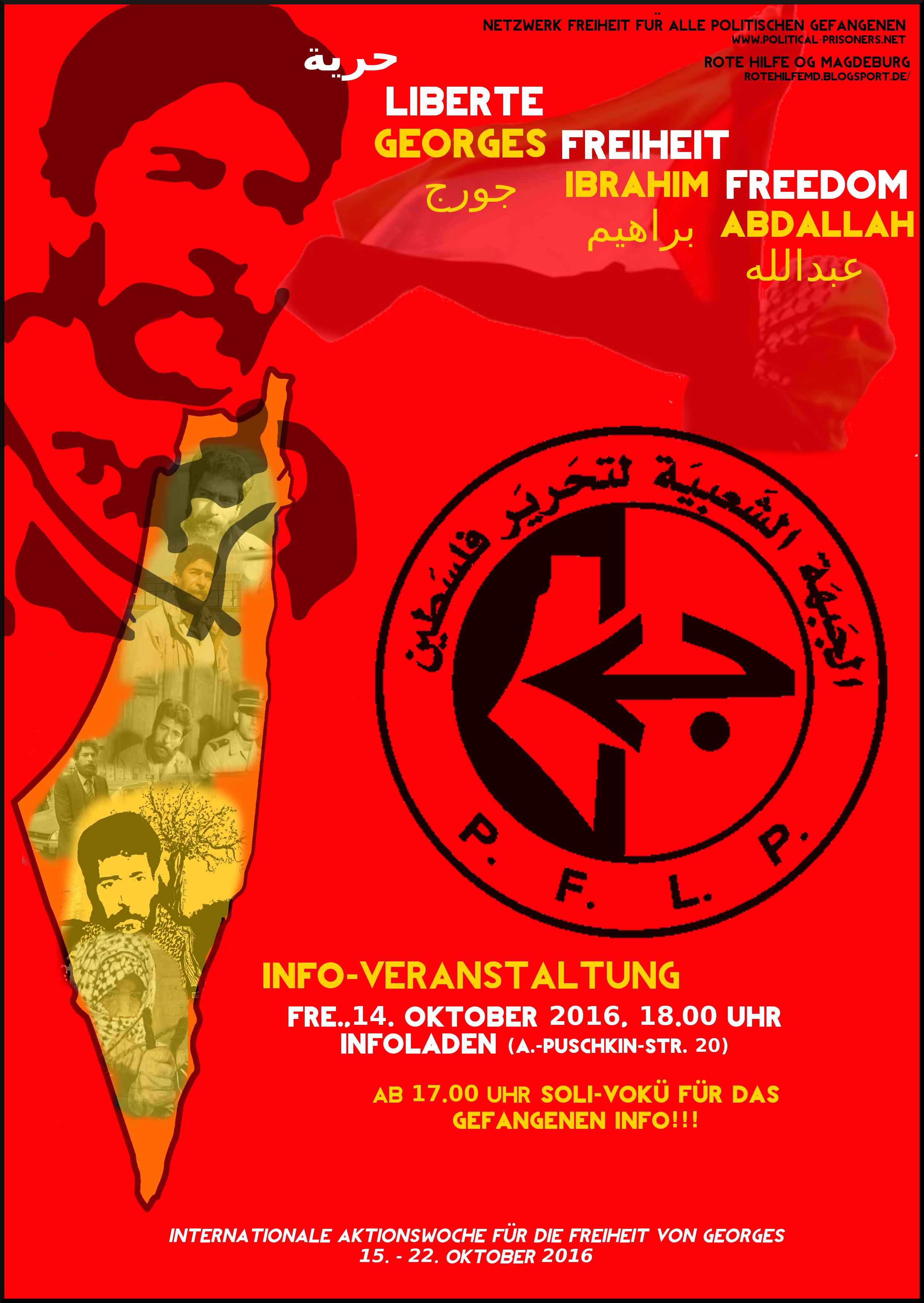 """Internationale Aktionswoche """"Freiheit für Georges Abdallah"""" vom 15 ..."""